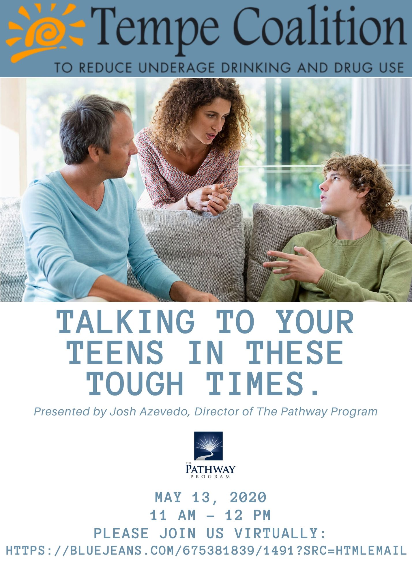 Talking to you teen flyer