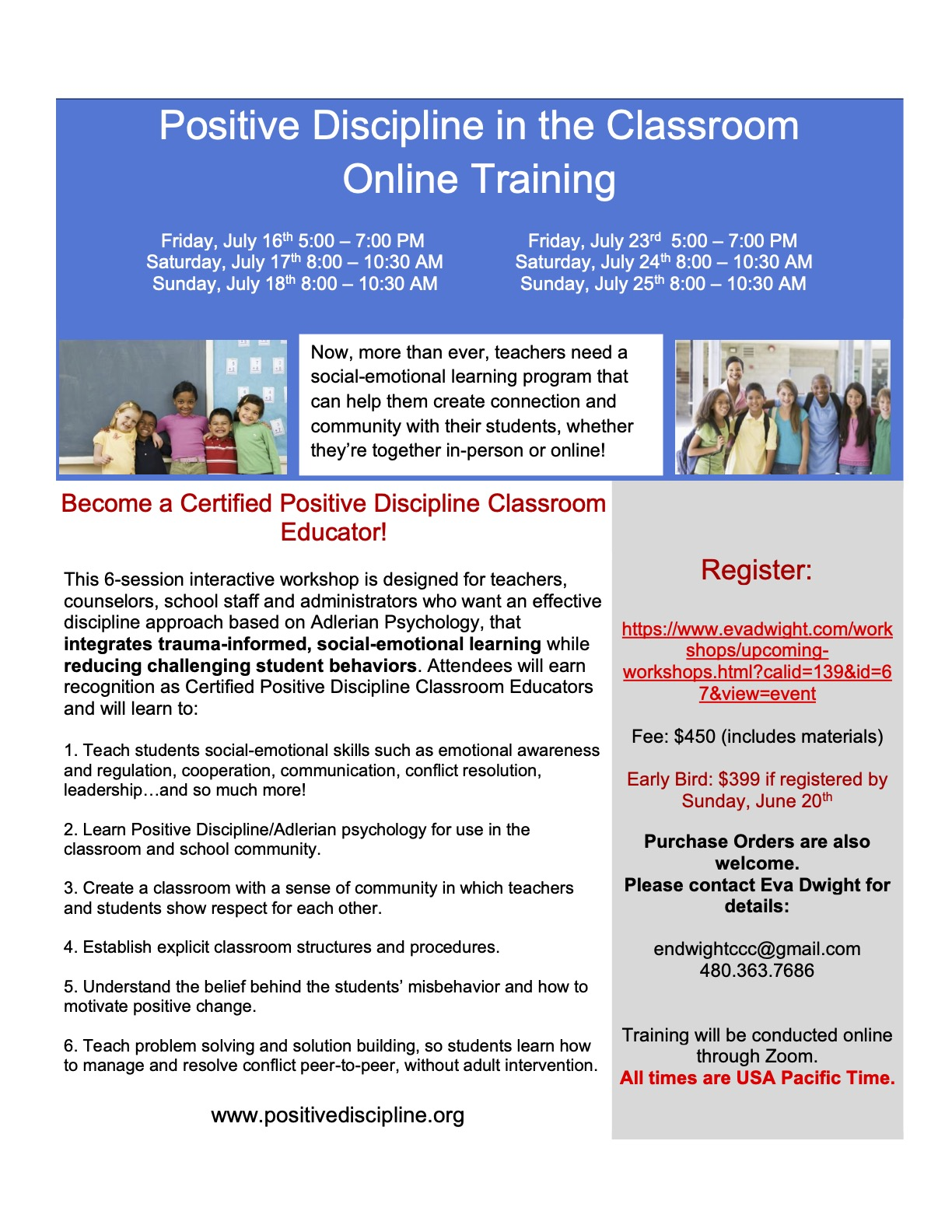 Pos Disc Classroom July 2021 flyer